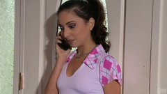 Adorable teeny whore Trinity StClair sucks her scumbag boyfriend's cock