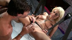 Delicious blonde hooker Breanne Benson gets fucked on the swings