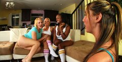 A dirty truth or dare game with Sinnamon Love, Kelly Divine, Austin Taylor and Sunny Day