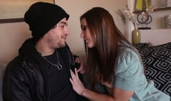 Gracie Glam wants to fuck young dude before her mature husband comes from work