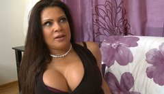 Busty mommy in black tight dress Teri Weigel blows cock and tit fucks