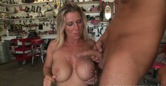Curvaceous blonde MILF Devon Lee takes it from behind