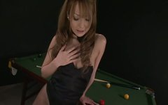 Awesome Asian chick Sena Aragaki tears her panty hose and waits for a cock