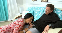 Fat ass Ava Addams gives blowjob and rides on cock