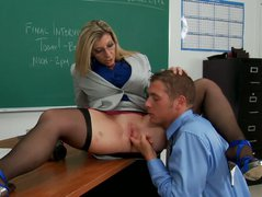 Fuck in small teacher's cabinet with Sara Jay