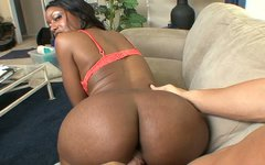 Ebony milf Codi Bryant fucks and sucks white dick on POV video