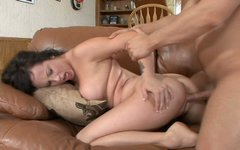 Chubby brunette Lindy Lane is poked in doggy position