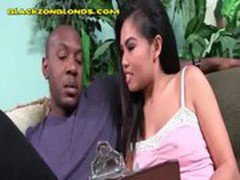 Hung Black Stud Gets An Asian Blowjob