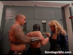 Hot bBlonde and masked girl get pussies