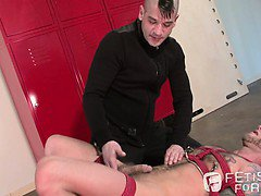 Bound hotty Drake Jaden gets the hard shaft from Tony Buff