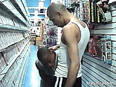 Nasty ebony gay is getting horny when part3