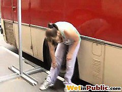 Dirty pants wetting happened in public