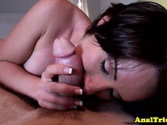 Anal loving girlfriend asks gapeshot