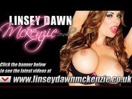 Naughty babe Linsey Dawn McKenzie caught wanking on camera