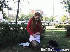 Teen girl video walking naked in public
