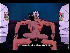 Ebony woman riding and sucking the cock - anime hentai movie