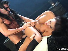 Big-titted slut Eva Angelina gets impaled on dick