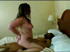 Fat Chubby GF fucking with her Black BF, cum in mouth-P2