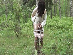 Pantyhose Bondage in Forest