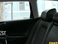 Fake Taxi - Russian girl masturbate in taxi while moving in City.