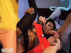 Uhura gets double teamed
