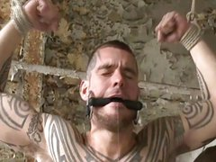 BDSM Guy tied up fucked and milked