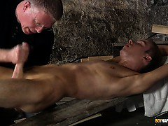 Sexy twink boy Chad Chambers gets wanked and edged to a