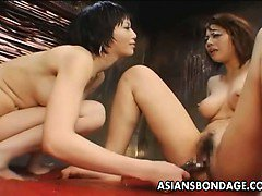 Redhead slave girl gets pissed on and toyed