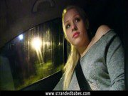 Amateur blonde chick Lola Taylor screwed up in public