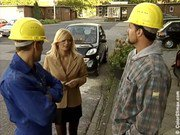 German milf fucked by two construction workers