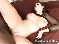 Gianna Michaels - Big Tits Brunette Sucked Cock Deep In Her Throat And Swallow Cum