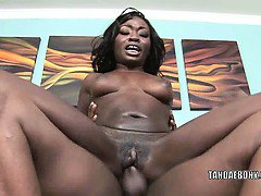 Black cutie Osa Lovely is getting fucked in the ass