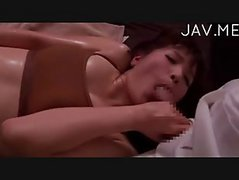 oily jap chick fuck by massager