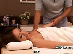 Subtitled Japanese cougar full body sensual oil massage