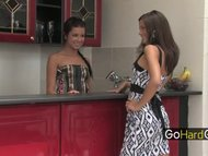Lesbian Babes in Kitchen Little Caprice Tanner Mayes