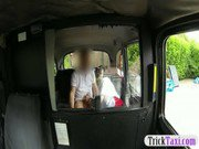 Horny passenger suck taxi driver huge cock caught on cam