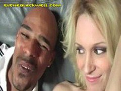 Blonde Sucking Her First Black Cock