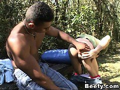 Outdoor Butt Fucking With Muscled Gays