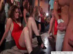 Pretty horny willing babes banged at a sex party
