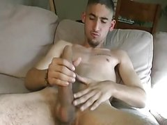 Monster Cock jerks Off and Cum