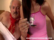 Beauty teen gets fucked by an old dude