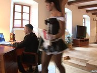 Smoking Hot Euro Maid sucks Dick and Eats Pussy