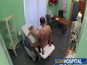 Sexy blonde tourist chick gets fucked by the doctor in the examining tablerk 02