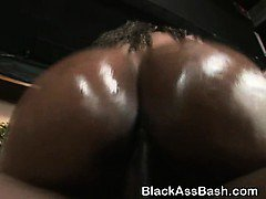 Giant Black Ass Ghetto Slut Riding On Top Of A Dick