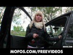 Incredibly HOT Czech model is paid for sex in a car