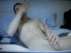 hung hot dude jerks off on cam