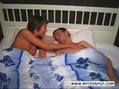 Hot couple fucking in bed