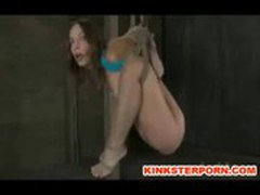 Pervert BDSM Games &ndash_ Slave is Bounded, Slapped, Dildoed in a Brutal Humiliation