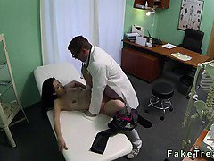 Brunette MILF gets fucked by doctor in fake hospital