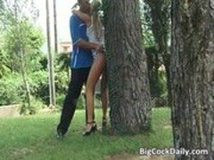 Anal punishment for naughty horny blonde